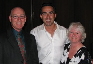 Rick and Judy Bowerman with Christian Perry, internationally known dance instructor, in Provo, Utah, July 2009.