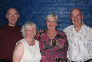 Rick and Judy Bowerman with Peg Myer and Gene Rolf in Troy, September 2009
